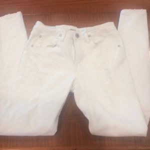 Hudson girls white stretch jeans, 14. Perfect!